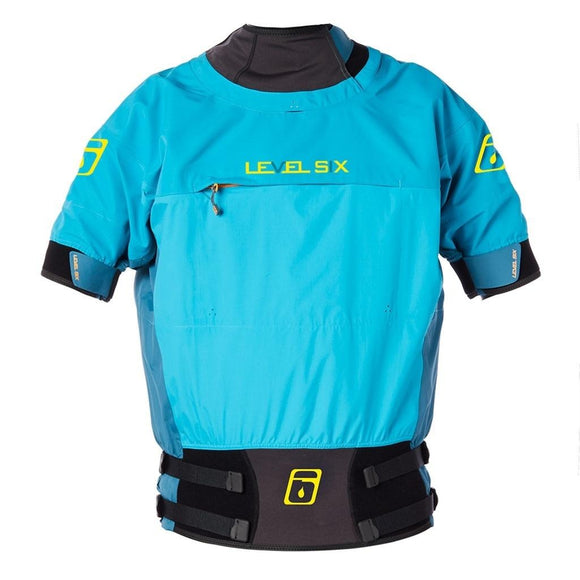 Level Six Vega Short Sleeve Dry Top XSmall / Grotto Blue Dry Wear Level Six - Hook 1 Outfitters/Kayak Fishing Gear