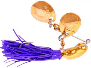 Hildebrandt Nugget Gold - 1/4Oz Gold Blades Purple Skirt  Lures - Spinnerbaits/Buzzbaits Yakima / Hildebrandt - Hook 1 Outfitters/Kayak Fishing Gear