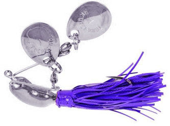 Hildebrandt Nugget Silver - 1/4Oz Silv Blades Purple Skirt  Lures - Spinnerbaits/Buzzbaits Yakima / Hildebrandt - Hook 1 Outfitters/Kayak Fishing Gear