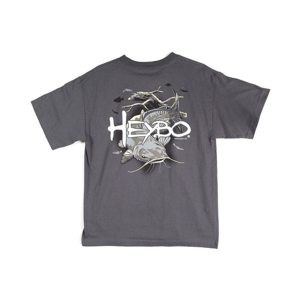 HEYBO CATFISH SHORT SLEEVE T-SHIRT  Tops HEYBO - Hook 1 Outfitters/Kayak Fishing Gear