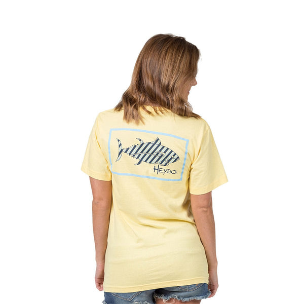 HEYBO PREP STRIPE BUTTER SHORT SLEEVE T-SHIRT  Tops HEYBO - Hook 1 Outfitters/Kayak Fishing Gear