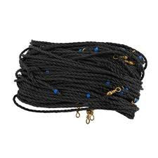 H&H Floating Trotline - Black 120Ft W/25 Hooks & Swiv  Line - Lead Core/Fnsh/Trotline H&H Tackle - Hook 1 Outfitters/Kayak Fishing Gear