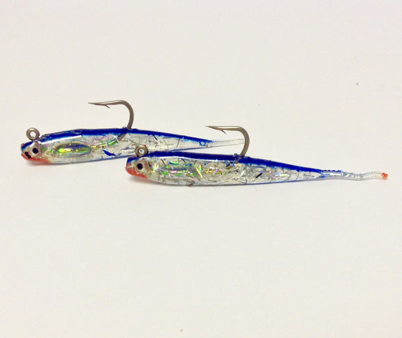 H&H Glass Minnow Double Rig  Lures - Rigs H&H Tackle - Hook 1 Outfitters/Kayak Fishing Gear