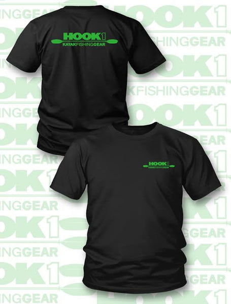 HOOK 1 CLASSIC LOGO LIME GREEN - T-Shirt  Apparel HOOK 1 - Hook 1 Outfitters/Kayak Fishing Gear