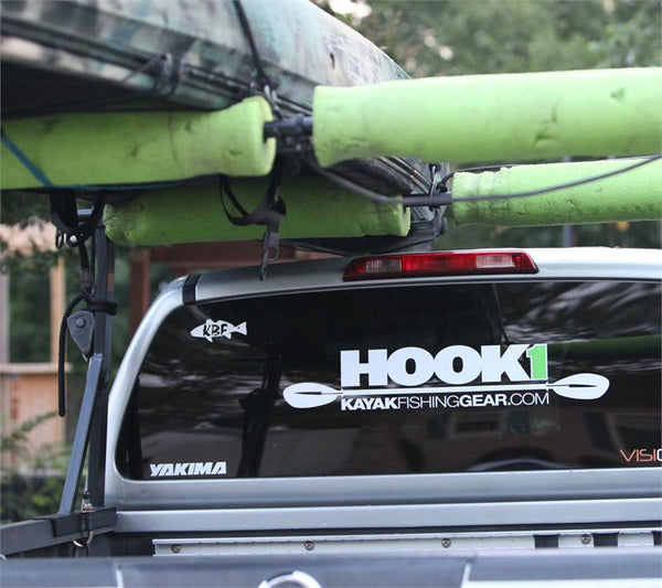 "HOOK 1 Sticker - Paddle Design - (28"" X 5.25"")  Accessories HOOK 1 - Hook 1 Outfitters/Kayak Fishing Gear"