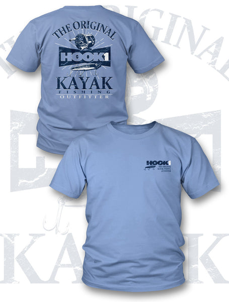CLOSEOUT: HOOK 1 The Original Kayak Fishing Outfitter Tee  Apparel HOOK 1 - Hook 1 Outfitters/Kayak Fishing Gear