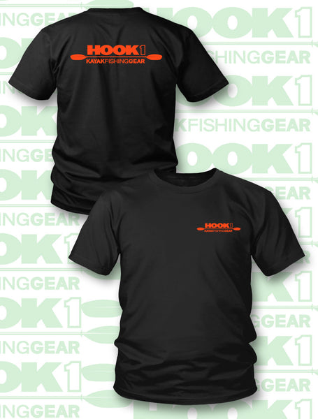 HOOK 1 CLASSIC LOGO ORANGE - T-Shirt  Apparel HOOK 1 - Hook 1 Outfitters/Kayak Fishing Gear