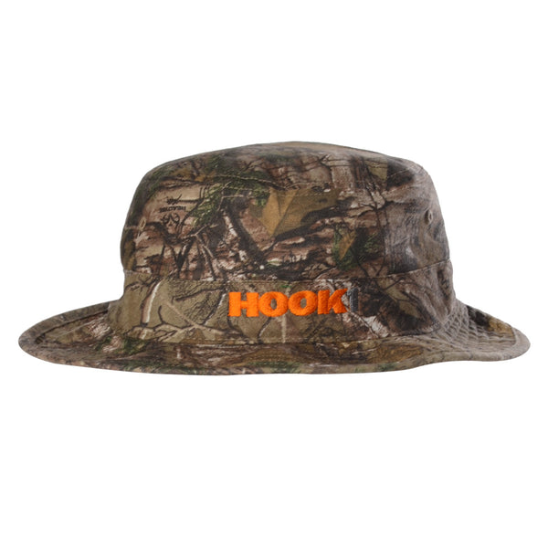 HOOK 1 Hat - Camo Boonie Hat with Orange Logo  Hats HOOK 1 - Hook 1 Outfitters/Kayak Fishing Gear