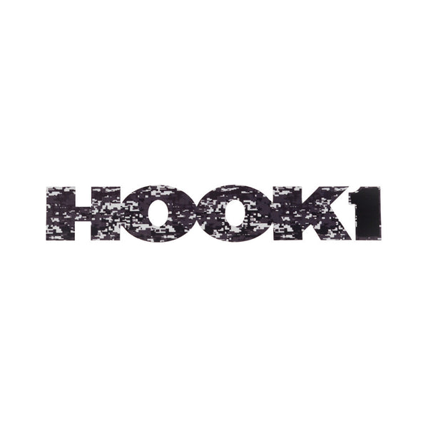 "HOOK 1 Digital Camo Logo Sticker / Decal - 7.5"" X 1.5""  Accessories HOOK 1 - Hook 1 Outfitters/Kayak Fishing Gear"