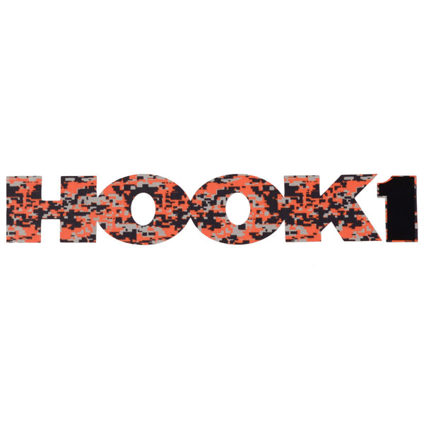 HOOK 1 Digital Camo Logo Sticker / Decal - 17.5