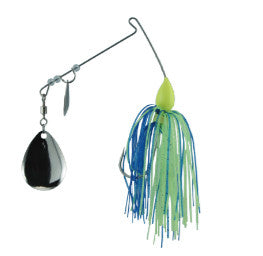 Luck E Strike Promo Spinner Ba - 3/8Oz Col/Wil Blue/ Chart  Lures - Spinnerbaits/Buzzbaits Luck E Strike - Hook 1 Outfitters/Kayak Fishing Gear