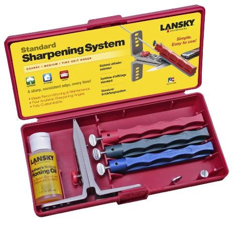 Lansky Knife Sharpening System - Standard 3-Stone  Cutlery/Tools Lansky - Hook 1 Outfitters/Kayak Fishing Gear