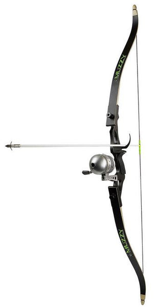 Muzzy Bowfishing Kit Recurve - Bow/Reel/Arrows/Rest/Finger Gu  Bowfishing Muzzy Archery - Hook 1 Outfitters/Kayak Fishing Gear