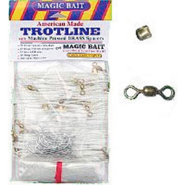 Magic Bait Trotline - Eco W/Plas Spacers 100Ft 20Hk  Line - Lead Core/Fnsh/Trotline Magic Bait - Hook 1 Outfitters/Kayak Fishing Gear