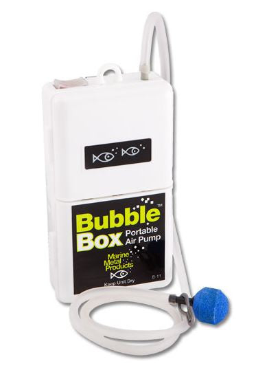 Marine Metal Aerator - Bubble Box 2/D-Cell  Bait Containers/Aeration Marine Metal - Hook 1 Outfitters/Kayak Fishing Gear