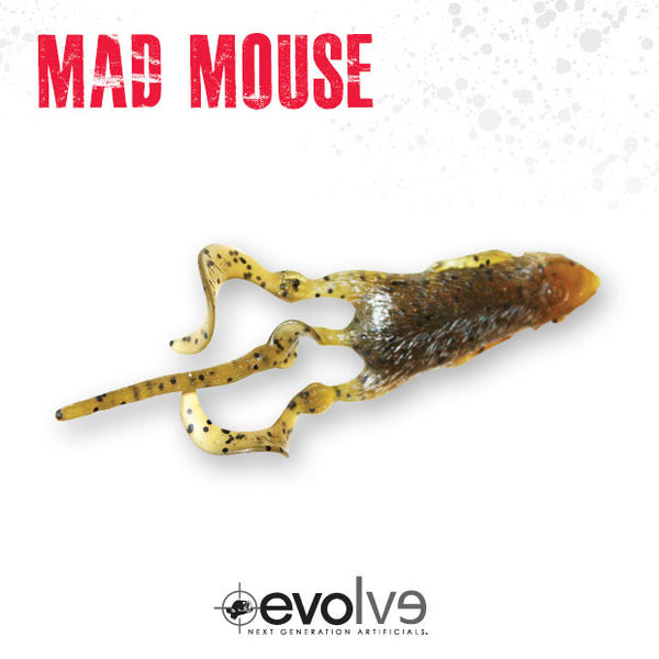 EVOLVE 5 MadMouse  Soft Baits Evolve Baits - Hook 1 Outfitters/Kayak Fishing Gear