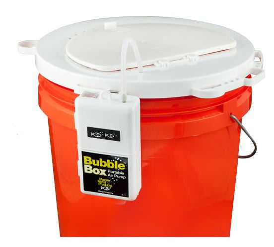 Marine Metal Bubble Box Combo - Bucket Lid W/B-11 Pump  Bait Containers/Aeration Marine Metal - Hook 1 Outfitters/Kayak Fishing Gear