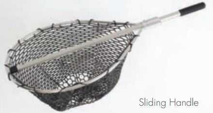 Mid Lakes Rubber Landing Net - H36 Sliding 17Inx19In  Nets/Traps/Baskets Mid Lakes - Hook 1 Outfitters/Kayak Fishing Gear
