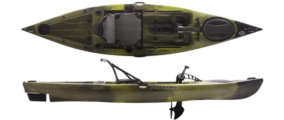 Manta Ray Propel Angler 12 - CLOSEOUT Lizard Lick Kayaks Native Watercraft - Hook 1 Outfitters/Kayak Fishing Gear