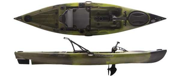 Manta Ray Propel Angler 12 Lizard Lick Kayaks Native Watercraft - Hook 1 Outfitters/Kayak Fishing Gear