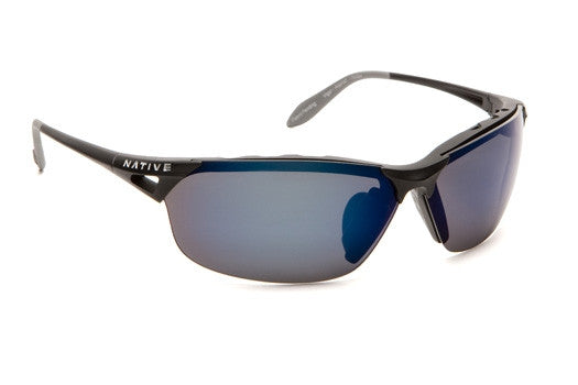 Native Polorized Eyewear - Vigor Asphalt/Blue Reflex