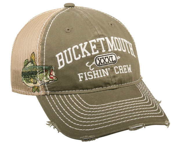 Outdoor Cap 6-Panel Cap - Bucket Mouth Olive 1-Sz