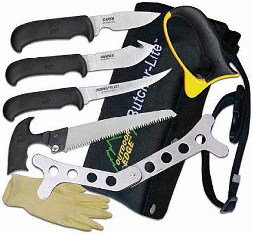 Outdoor Edge Knife Kit - Butcher-Lite 8-Pc Roll Bx  Cutlery/Tools Outdoor Edge - Hook 1 Outfitters/Kayak Fishing Gear