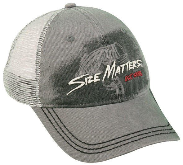 Outdoor Cap 6-Panel Cap - Size Matters Mesh  Clothing/Footwear - Fishing Outdoor Cap - Hook 1 Outfitters/Kayak Fishing Gear