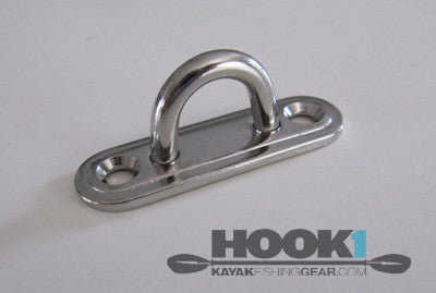 Oblong Eye Plate - Unpackaged  Hardware & Small Parts SEA-Lect Designs - Hook 1 Outfitters/Kayak Fishing Gear