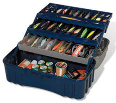 Plano Tackle Box - Large Three Tray  Tackle Boxes/Bags Plano Molding - Hook 1 Outfitters/Kayak Fishing Gear