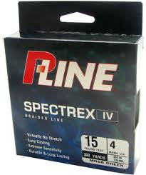 P-Line Spectrex Iv Braid Line - Green 150Yd 30#  Line - Braid P-Line - Hook 1 Outfitters/Kayak Fishing Gear