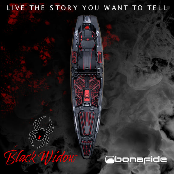 Bonafide Kayaks SS107 Black Widow Limited Edition  Kayaks Bonafide Kayaks - Hook 1 Outfitters/Kayak Fishing Gear