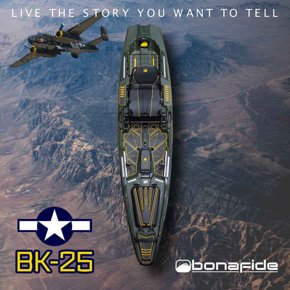 Bonafide Kayaks SS107 BK-25 Limited Edition  Kayaks Bonafide Kayaks - Hook 1 Outfitters/Kayak Fishing Gear