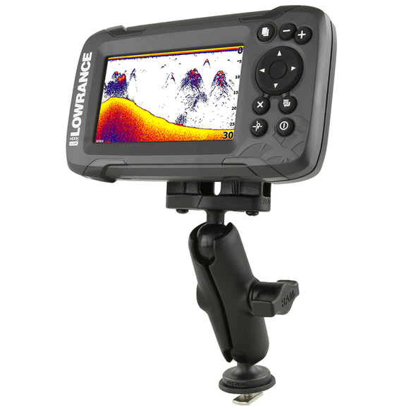 TRACK BALL™ MOUNT FOR THE LOWRANCE HOOK² SERIES  Depthfinder and Electronics Mounts RAM - Hook 1 Outfitters/Kayak Fishing Gear