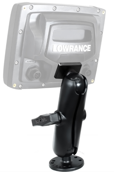 "RAM 1.5"" Ball Marine Electronic ""RUGGED USE"" Mount for the Lowrance Elite-5 Series  Depthfinder and Electronics Mounts YakAttack - Hook 1 Outfitters/Kayak Fishing Gear"