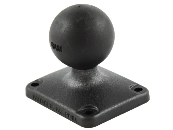 "RAM 2"" x 2.5"" Rectangle Composite Base with 1.5"" Ball  Surface and Ball Mounts RAM - Hook 1 Outfitters/Kayak Fishing Gear"