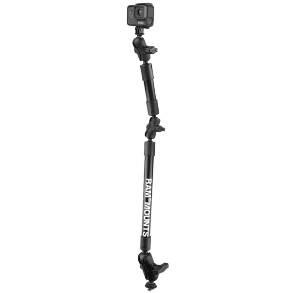 "31"" Tough-Pole™ Camera Mount with Track Ball™ Base  Camera Mounts RAM - Hook 1 Outfitters/Kayak Fishing Gear"