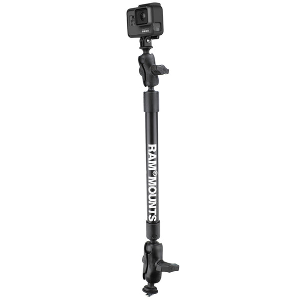 "22"" Tough-Pole™ Camera Mount with Track Ball™ Base  Camera Mounts RAM - Hook 1 Outfitters/Kayak Fishing Gear"