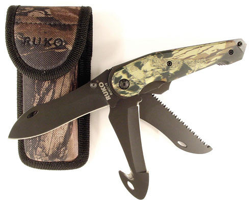 Ruko Knife - Camo Multi Blade Folder W/Shea