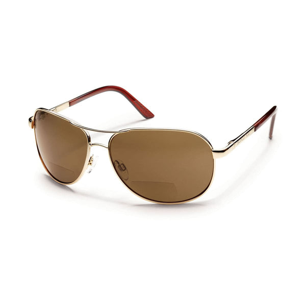 AVIATOR 1.50 GOLD FRAME WITH BROWN POLARIZED POLYCARBONATE LENS Eyewear/Accessories Suncloud - Hook 1 Outfitters/Kayak Fishing Gear