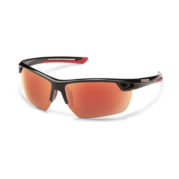 CONTENDER BLACK FRAME WITH RED MIRROR POLARIZED POLYCARBONATE LENS Eyewear/Accessories Suncloud - Hook 1 Outfitters/Kayak Fishing Gear