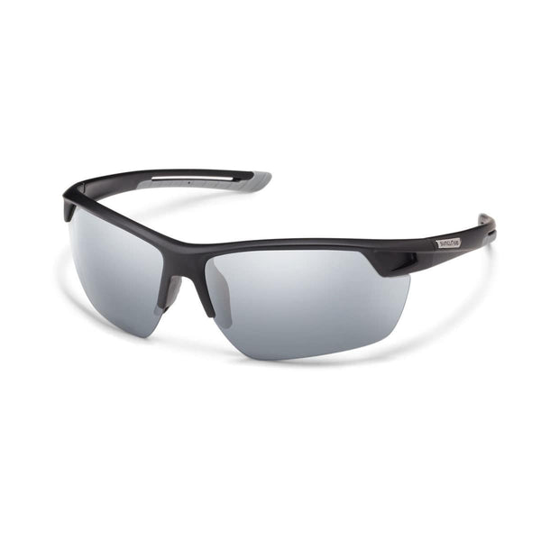CONTENDER MATTE BLACK FRAME WITH SILVER MIRROR POLARIZED POLYCARBONATE LENS Eyewear/Accessories Suncloud - Hook 1 Outfitters/Kayak Fishing Gear