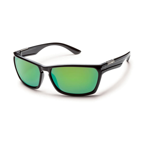 CUTOUT BLACK FRAME WITH GREEN MIRROR POLARIZED POLYCARBONATE LENS Eyewear/Accessories Suncloud - Hook 1 Outfitters/Kayak Fishing Gear