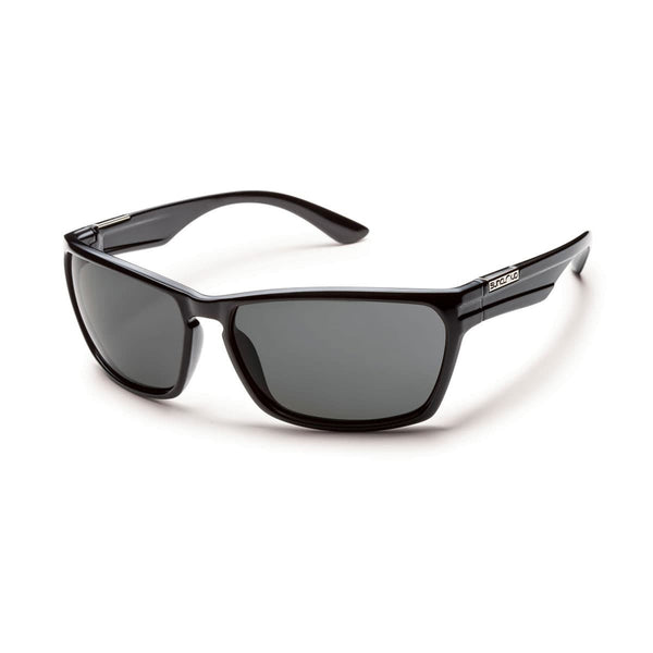 CUTOUT BLACK FRAME WITH GRAY POLARIZED POLYCARBONATE LENS Eyewear/Accessories Suncloud - Hook 1 Outfitters/Kayak Fishing Gear