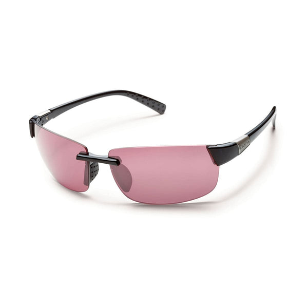 GETAWAY BLACK FRAME WITH ROSE POLARIZED POLYCARBONATE LENS Eyewear/Accessories Suncloud - Hook 1 Outfitters/Kayak Fishing Gear