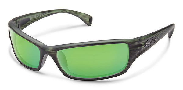 HOOK MATTE GREEN STRIPE FRAME WITH GREEN MIRROR POLARIZED POLYCARBONATE LENSE Eyewear/Accessories Suncloud - Hook 1 Outfitters/Kayak Fishing Gear