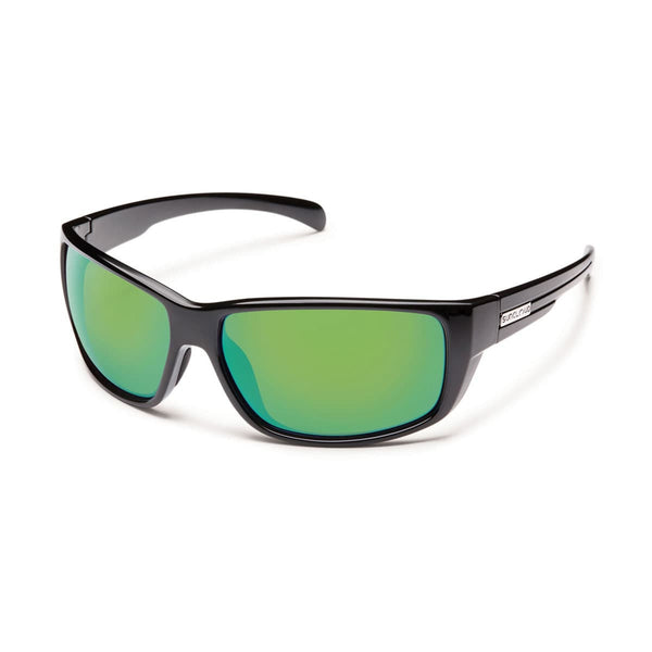 MILESTONE BLACK FRAME WITH GREEN MIRROR POLARIZED POLYCARBONATE LENS Eyewear/Accessories Suncloud - Hook 1 Outfitters/Kayak Fishing Gear