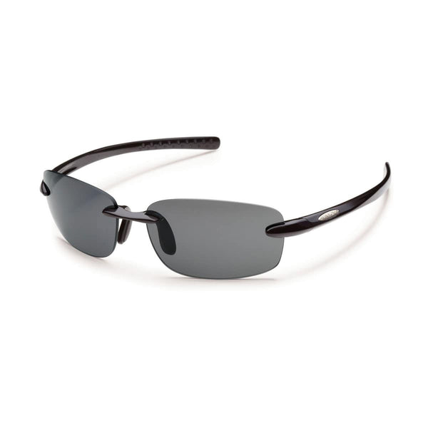 MOMENTUM BLACK FRAME WITH GRAY POLARIZED POLYCARBONATE LENS Eyewear/Accessories Suncloud - Hook 1 Outfitters/Kayak Fishing Gear