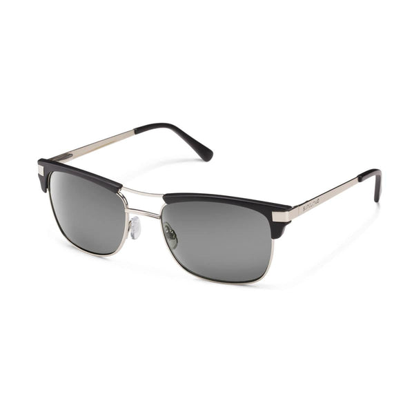 MOTORWAY MATTE BLACK FRAME WITH GRAY POLARIZED POLYCARBONATE LENS Eyewear/Accessories Suncloud - Hook 1 Outfitters/Kayak Fishing Gear