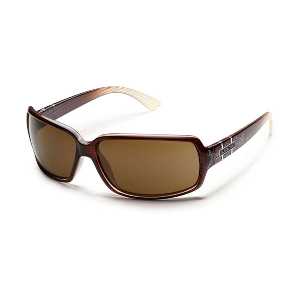 POPTOWN BROWN STRIPE LASER FRAME WITH BROWN POLARIZED POLYCARBONATE LENS Eyewear/Accessories Suncloud - Hook 1 Outfitters/Kayak Fishing Gear